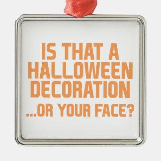 Ornement Carré Argenté Décoration de Halloween