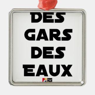 Ornement Carré Argenté Des Gars des Eaux - Jeux de Mots - Francois Ville