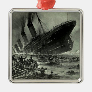 Ornement Carré Argenté Descente titanique