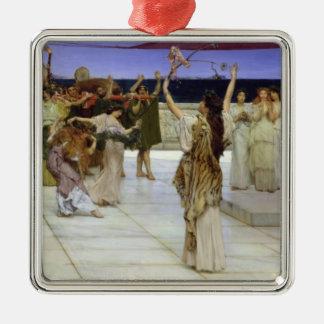 Ornement Carré Argenté Dévouement d'Alma-Tadema |A au Bacchus