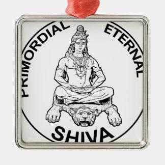 Ornement Carré Argenté Dieu éternel de seigneur Shiva et indien