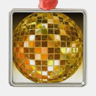 Ornement Carré Argenté Disco de partie de lumière de danse de saut de