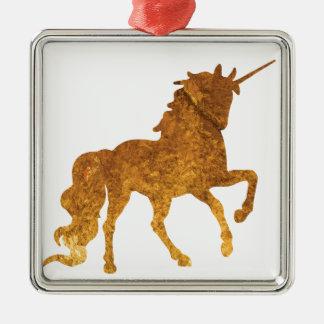 Ornement Carré Argenté Diverses couleurs caracolantes magiques de licorne