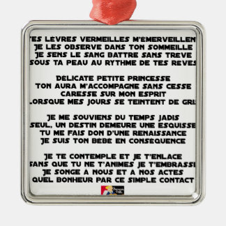 Ornement Carré Argenté DORS - Poème - Francois Ville