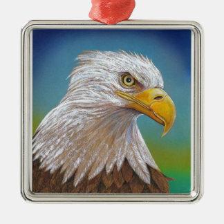 Ornement Carré Argenté Eagle