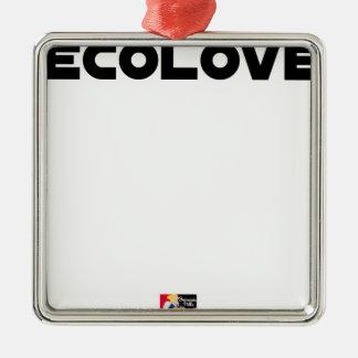 Ornement Carré Argenté ECOLOVE - Jeux de mots - Francois Ville