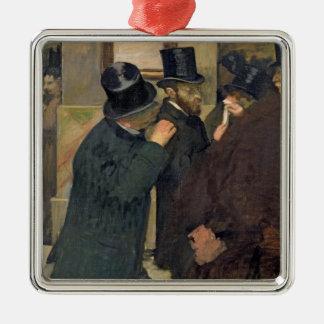 Ornement Carré Argenté Edgar Degas | à la bourse des valeurs, c.1878-79