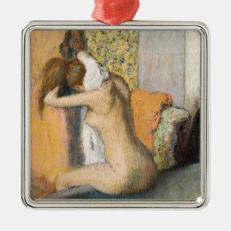 Ornement Carré Argenté Edgar Degas | après Bath, cou de séchage de femme
