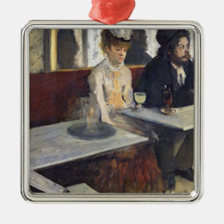 Ornement Carré Argenté Edgar Degas | dans un café, ou l'absinthe