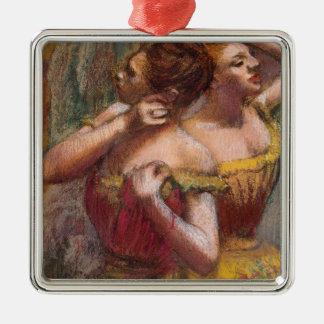 Ornement Carré Argenté Edgar Degas | deux danseurs