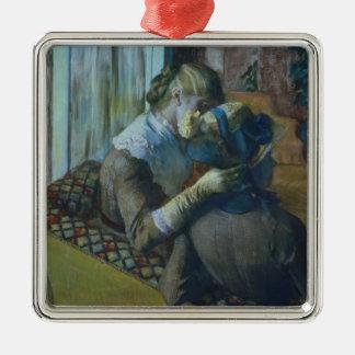 Ornement Carré Argenté Edgar Degas   deux femmes