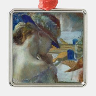 Ornement Carré Argenté Edgar Degas | devant le miroir, 1889