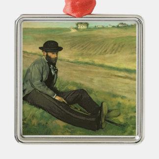 Ornement Carré Argenté Edgar Degas | Eugene Manet