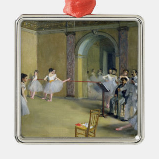 Ornement Carré Argenté Edgar Degas | le foyer de danse