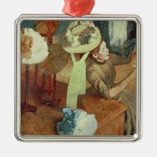 Ornement Carré Argenté Edgar Degas | le magasin d'articles de modes,
