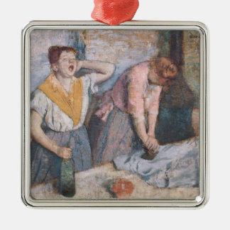 Ornement Carré Argenté Edgar Degas | les blanchisseuses, c.1884