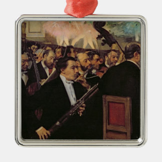 Ornement Carré Argenté Edgar Degas | l'orchestre d'opéra, c.1870