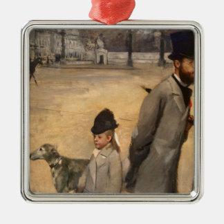 Ornement Carré Argenté Edgar Degas | Place de la Concorde, 1875