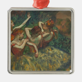 Ornement Carré Argenté Edgar Degas   quatre saisons dans l'une tête,