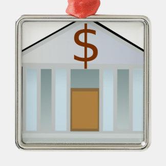 Ornement Carré Argenté Édifice bancaire