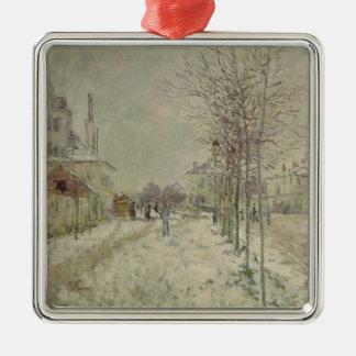 Ornement Carré Argenté Effet de neige de Claude Monet |