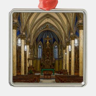 Ornement Carré Argenté Église catholique de St Peter Painterly