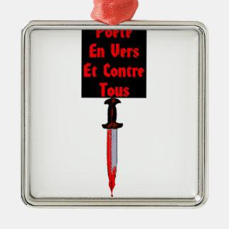 Ornement Carré Argenté En Vers et Contre Tous - Jeux de Mots Francois