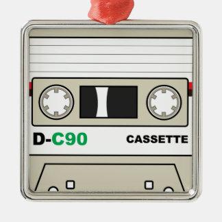 Ornement Carré Argenté Enregistreur à cassettes