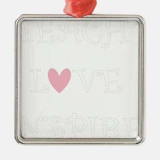 Ornement Carré Argenté enseignez l'amour inspire2
