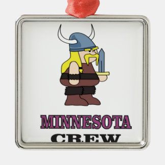 Ornement Carré Argenté Équipage du Minnesota