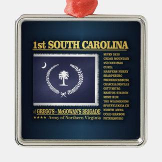 Ornement Carré Argenté ęr Infanterie de la Caroline du Sud (BA2)