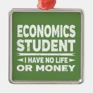 Ornement Carré Argenté Étudiant universitaire économique je n'ai aucune