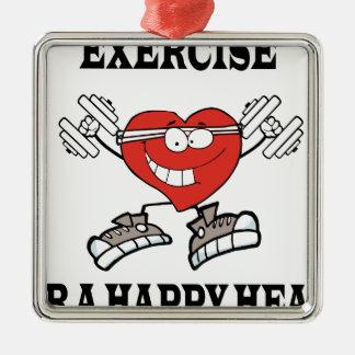 Ornement Carré Argenté exercice heart2