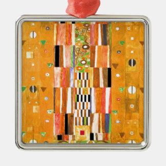 Ornement Carré Argenté Extrémité de Gustav Klimt du mur