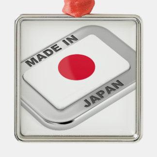 Ornement Carré Argenté Fabriqué au Japon