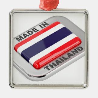 Ornement Carré Argenté Fabriqué en Thaïlande