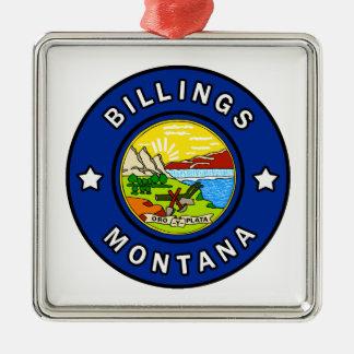 Ornement Carré Argenté Facturations Montana