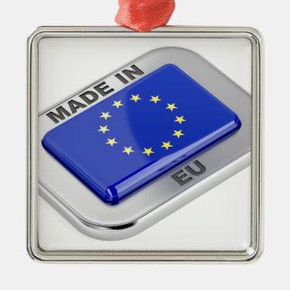 Ornement Carré Argenté Fait dans l'Union européenne
