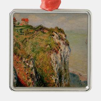 Ornement Carré Argenté Falaise de Claude Monet | chez Dieppe, 1882