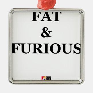 Ornement Carré Argenté FAT & FURIOUS - Jeux de Mots - Francois Ville