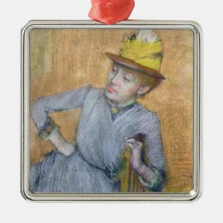 Ornement Carré Argenté Femme assise par | d'Edgar Degas, 1887