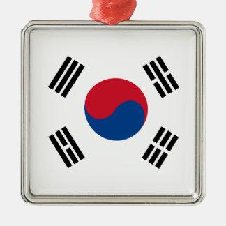 Ornement Carré Argenté flag_korea