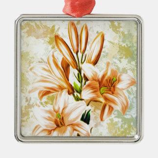 Ornement Carré Argenté Floral, art, conception, beau, nouvelle, mode,
