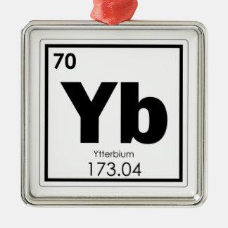 Ornement Carré Argenté Formul de chimie de symbole d'élément chimique de
