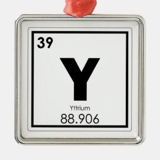 Ornement Carré Argenté Formule de chimie de symbole d'élément chimique de