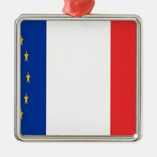 Ornement Carré Argenté France Europe