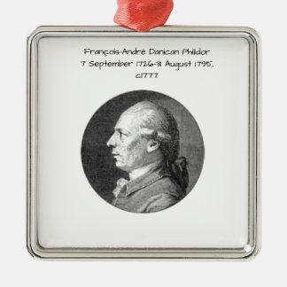 Ornement Carré Argenté Francois André Danican Philidor
