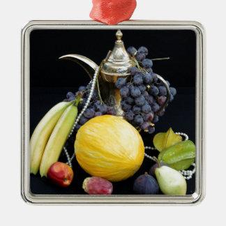 Ornement Carré Argenté Fruits chers interdits