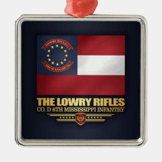Ornement Carré Argenté Fusils de Lowry