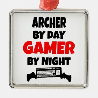 Ornement Carré Argenté Gamer Archer